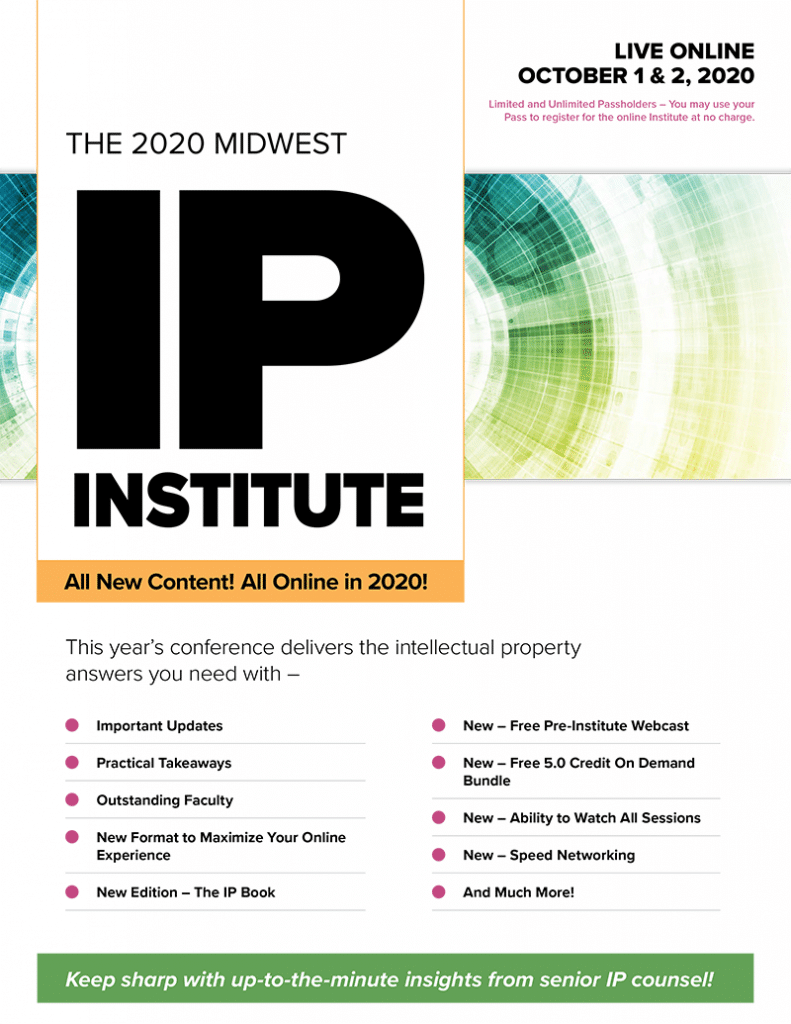 Midwest IP Institute Brochure Cover